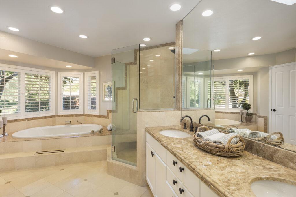 brand new bathroom renovtion tulsa bathroom remodeler best tile anc cabinet install