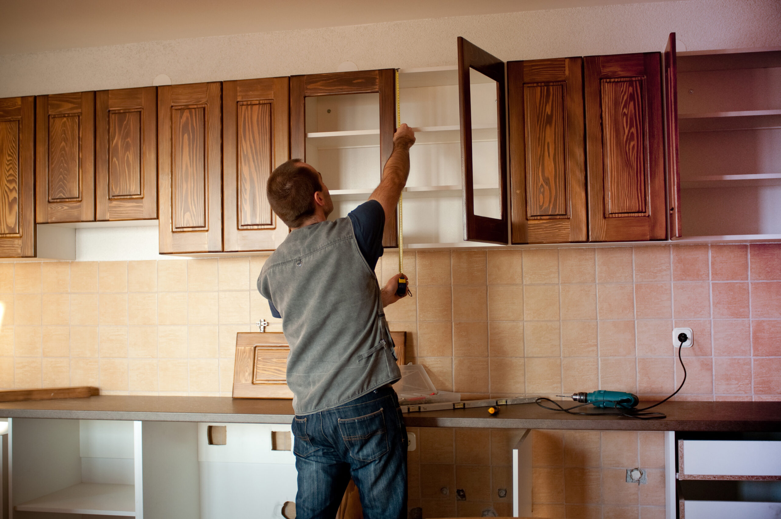 cabinet installation kitchen remodeling tulsa carpentry custom cabinetry